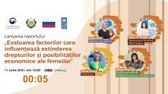 """Lansarea raportului """"Evaluarea factorilor care influențează extinderea drepturilor și posibilităților economice femeilor"""""""