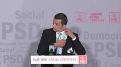 Conferință de presă susținută de prim-vicepreședintele PSD, Sorin Grindeanu
