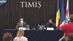 Declaratie de presă susținută de Prim-ministrul României, Florin Cîțu, la Sediul Consiliului Județean Timiș