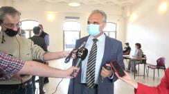 Declarații de presă ale oficialităților locale ieșene, cu ocazia deschiderii centrului de vaccinare de la Gara Iași
