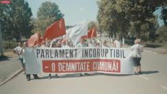 """Acțiunea """"Parlament incoruptibil - o demnitate comună"""", organizată de Congresul Civic în orașul Ocnița"""
