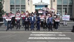 Protest organizat de Platforma DA împotriva fărădelegilor de la Calea Ferată a Moldovei