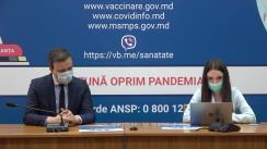 """Eveniment organizat de Ministerul Sănătății, Muncii și Protecției Sociale cu tema """"Vaccinarea împotriva COVID-19: Totul despre imunizarea femeilor însărcinate sau care alăptează"""""""