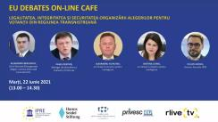 """EU Debates Cafe organizat de Institutul pentru Politici și Reforme Europene cu tema """"Legalitatea, integritatea și securitatea organizării alegerilor pentru votanții din regiunea transnistreană"""""""