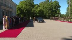 Ceremonia primirii oficiale a Președintelui României Klaus Iohannis la Palatul Kadriorg în Republica Estonia
