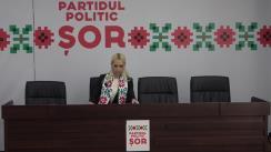 """Briefing de presă susținut de către deputatul Partidului """"ȘOR"""", Marina Tauber, privind proiectul de lege privind facilitățile pentru diaspora, anunțat de președintele Maia Sandu"""