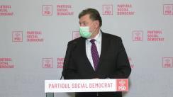 Conferință de presă susținută de către deputatul PSD și vicepreședintele Camerei Deputaților, Prof. dr. Alexandru Rafila