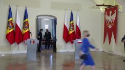 Declarație de presă susținută de Președintele Republicii Moldova, Maia Sandu, și Președintele Republicii Polonia, Andrzej Duda