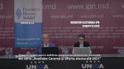 """Tragerea la sorți pentru stabilirea componenței dezbaterilor electorale din seria """"Analizăm Cererea și Oferta electorală-2021"""" organizate de Agenția de presă IPN"""
