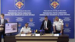 Conferință de presă organizată de Procuratura pentru Combaterea Criminalității Organizate și Cauze Speciale privind investigarea contrabandei cu peste 200 kg de heroină, cu implicarea cetățenilor Turciei și Moldovei
