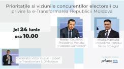 e-transformarea Republicii Moldova. Discuții cu candidații la alegerile parlamentare. Candidații: Ruslan Codreanu (Partidul Puterea Oamenilor) și Vitalie Marinuța (Partidul Verde Ecologist)