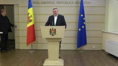 Briefing de presă susținut de deputații Fracțiunii PSRM, Adrian Lebedinschi și Grigore Novac