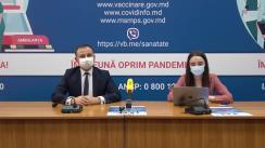 """Eveniment organizat de Ministerul Sănătății, Muncii și Protecției Sociale cu tema """"Vaccinarea împotriva COVID-19: Totul despre certificatele de vaccinare"""""""