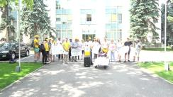 """Flashmob organizat de PAS Youth cu tema """"Ministra lui Dodon, jos mâna de pe Educație!"""""""