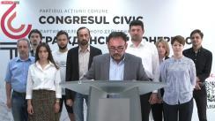 """Briefing online organizat de Partidul Acțiunii Comune-Congresul Civic cu tema """"Despre mersul campaniei electorale"""""""