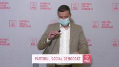 Declarație de presă susținută de prim-vicepreședintele PSD, Sorin Grindeanu