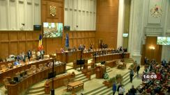Ședința comună a Camerei Deputaților și Senatului României consacrată comemorării victimelor progromului de la Iași din anul 1941