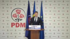 Briefing de presă susținut de președintele Organizației Tinerilor Democrați, Vadim Jora, de prezentare a viziunii PDM privind dezvoltarea domeniului tineretului și sportului inclusă în Planul de țară MOLDOVA ALTFEL