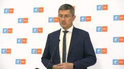 Declarație de presă susținută de co-președinte USR PLUS, Dan Barna