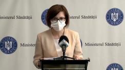 Declarații de presă ale ministrului Sănătății, Ioana Mihăilă, pe tema situației de la Institutul Clinic de Urologie și Transplant Renal Cluj-Napoca