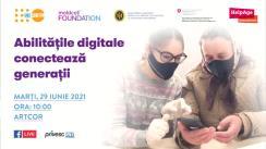 """Evenimentul de lansare a unei noi faze a Programului intergenerațional de reducere a decalajului digital dintre tineri și vârstnici """"Abilitățile digitale conectează generații"""""""