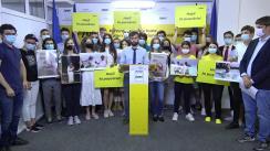 """Conferința de presă organizată de Partidul Acțiune și Solidaritate cu tema """"Hoții se tem de tineri. Vor să le închidă gura prin dosare de judecată"""""""