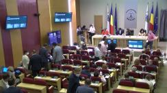 Ședința de dezbatere a Consiliului General al Municipiului București (CGMB)  pe tema unor proiecte de hotărâre care vizează dizolvarea și lichidarea a patru companii municipale și demararea procedurii de insolvență pentru Compania Municipală Medicală