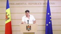 """Briefing de presă susținut de către deputatul socialist Bogdan Țîrdea cu tema """"Rolul Maiei Sandu in furtul miliardului"""""""