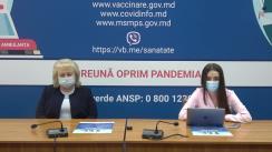 """Eveniment organizat de Ministerul Sănătății, Muncii și Protecției Sociale cu tema """"Vaccinarea împotriva COVID-19: Fertilitatea și alăptarea sugarilor"""""""