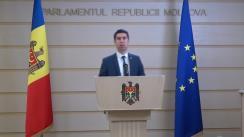 Briefing de presă susținut de deputatul Fracțiunii PAS Blocul ACUM, Mihai Popșoi