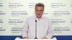 """Conferință de presă organizată de liderul Blocului electoral """"RENATO USATÎI"""", Renato Usatîi, cu tema """"Sondajele de manipulare ale unor companii, în favoarea unui concurent electoral"""""""
