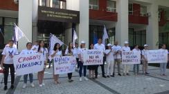 Protest organizat de Partidul Acasă Construim Europa în fața Ministerului Afacerilor Externe și Integrării Europene