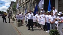 Protest organizat de Partidul Acasă Construim Europa în fața Comisiei Electorale Centrale