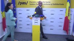 """Conferință de presă organizată de Partidul Acțiune și Solidaritate cu tema """"Riscurile de cumpărare a 70 000 de voturi"""""""