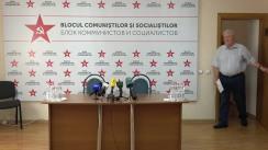 Conferință de presă susținută de liderii Blocului Comuniștilor și Socialiștilor, Vladimir Voronin și Igor Dodon