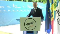 """Briefing de presă susținut de președintele PRO Moldova, Andrian Candu, cu tema """"În 11 iulie #VotămCuCAP"""""""