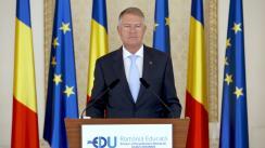 Declaratie de presă susținută de Președintele României, Klaus Iohannis