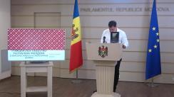 Briefing de presă susținut de către deputatul socialist Bogdan Țîrdea