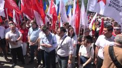 Acțiune de protest organizată de Blocul electoral al Comuniștilor și Socialiștilor în fața sediului Curții Supreme de Justiție