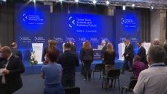 Conferință comună de presă susținută de președintele României Klaus Iohannis cu Președintele Republicii Bulgaria, Rumen Radev, Președintele Republicii Polone, Andrzej Duda, și Președintele Republicii Letonia, Egils Levits