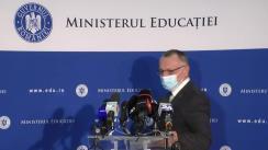 Conferință de presă susținută de Ministrul Educației din România, Sorin Cîmpeanu, pe tema rezultatelor înregistrate în prima sesiune a examenului național de Bacalaureat 2021 (după soluționarea contestațiilor)