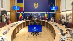 Conferință de presă susținută de Ministrul Muncii, Raluca Turcan, la Cluj