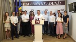 Declarații de presă susținute de Partidul Platforma DA după închiderea secțiilor de votare
