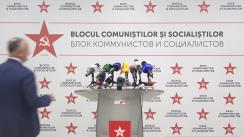 Declarații de presă susținute de Blocul Electoral al Comuniștilor și Socialiștilor după închiderea secțiilor de votare