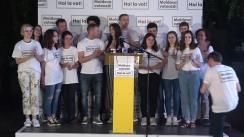 Declarații de presă susținute de Partidul Acțiune și Solidaritate după închiderea secțiilor de votare
