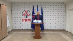 Declarații de presă susținute de Partidul Democrat din Moldova după închiderea secțiilor de votare