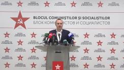 Declarații de presă susținute de Blocul Electoral al Comuniștilor și Socialiștilor după prezentarea primelor rezultate preliminare
