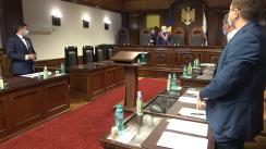 Ședința Curții Constituționale privind examinarea sesizării nr. 15a/2021 privind controlul constituționalității Legii nr. 252 din 16 decembrie 2020 privind modificarea Legii insolvabiliății nr. 149/2012