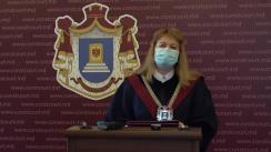Briefing de presă susținut de Președinte ad-interim al Curții Constituționale a Republicii Moldova, Liuba Șova
