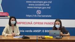 """Eveniment organizat de Ministerul Sănătății, Muncii și Protecției Sociale cu tema """"Vaccinarea împotriva COVID-19: Detalii despre serul Johnson & Johnson"""""""